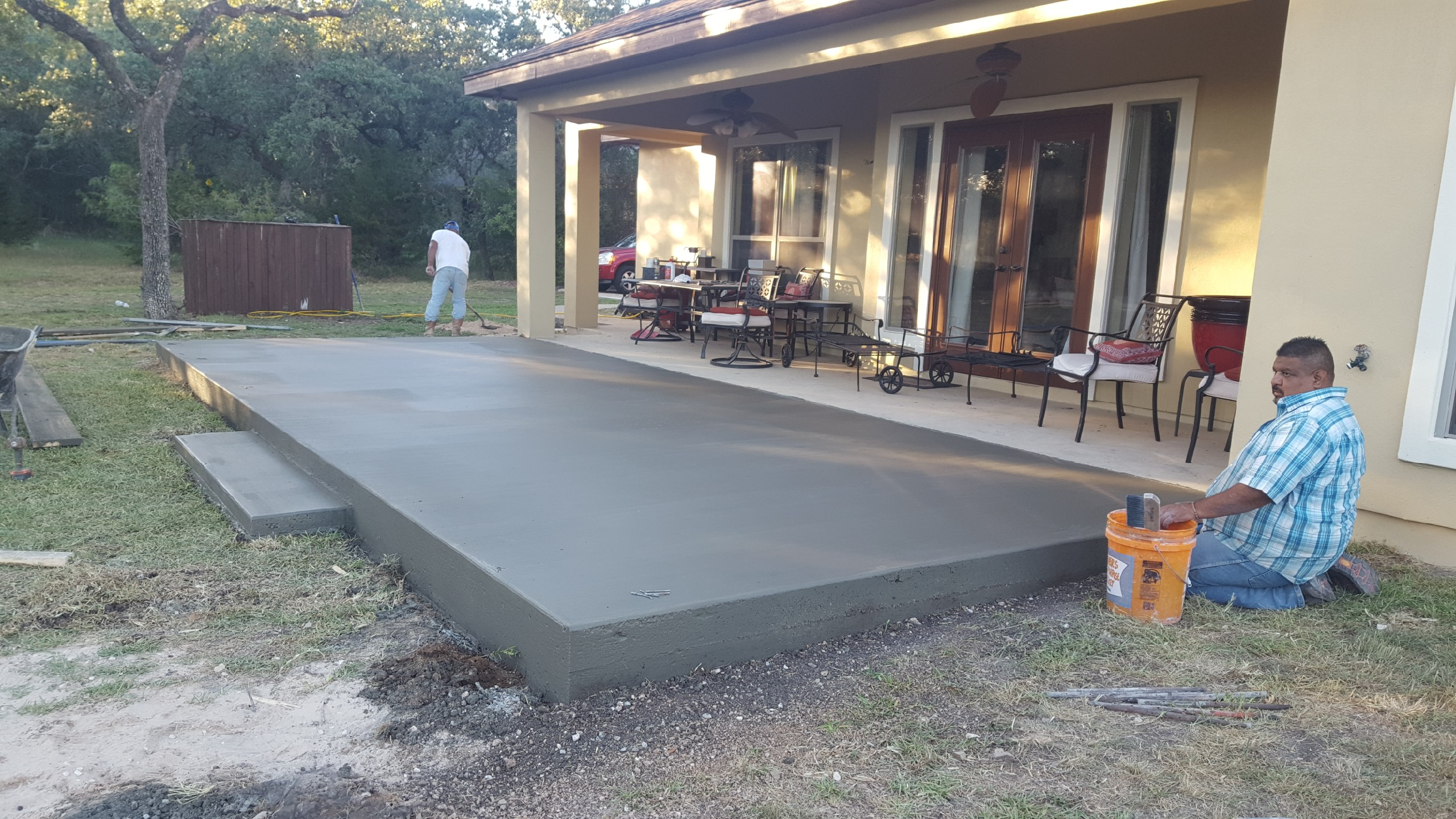 Concrete Driveway And Walkway